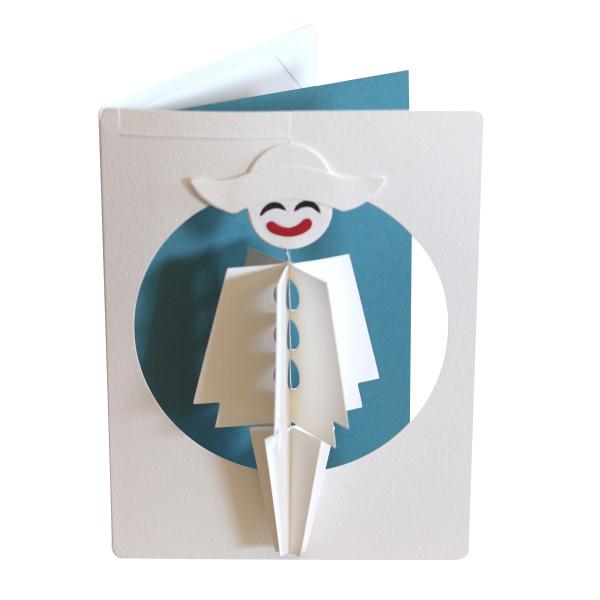 Kleine Pjerrot als Mobile in Postkarte
