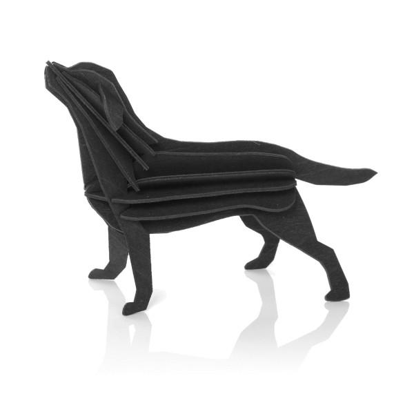 Lovi  3D Labrador  als Aufsteller 15 cm Birkenholz schwarz