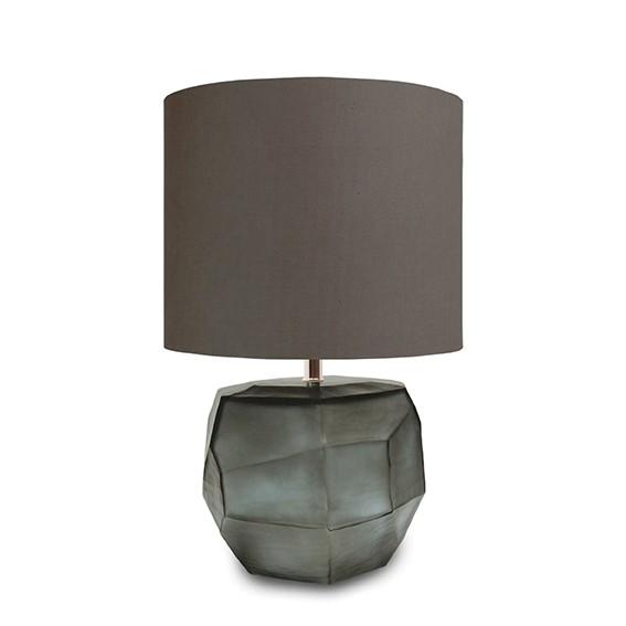 guaxs tischlampe Cubistic round indigo-smokegrey