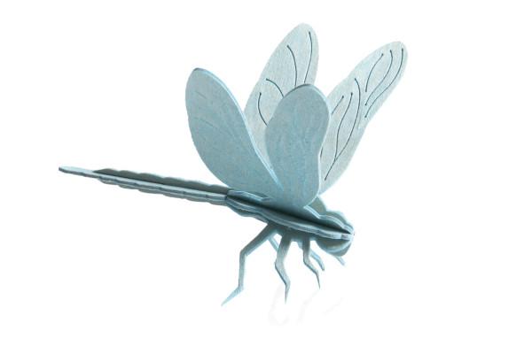 Lovi  3D Libelle 10 cm hellblau Postkarte Birkenholz basteln 2