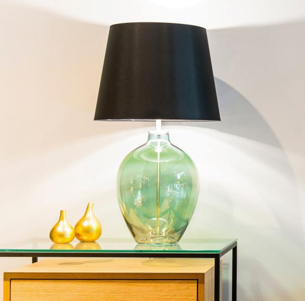 Mundgeblasene Glas-Tischlampe Cocoon 65 / 71 cm