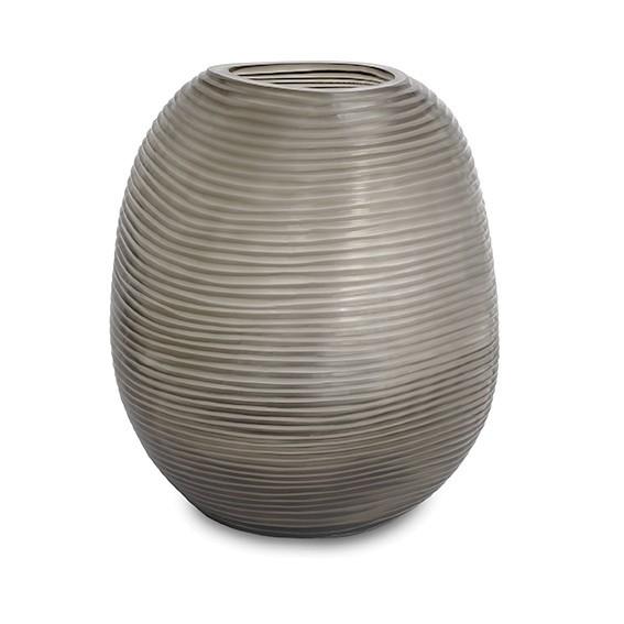 Guaxs Vase Patara Round smokegrey