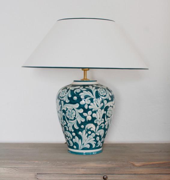 Tischlampe Deruta Pavone 52 cm
