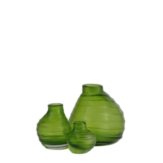 Vase Belly clear green