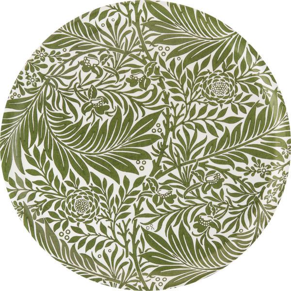 Åry Trays Tablett Larkspur von William Morris 38 cm, rund, Birkenholz