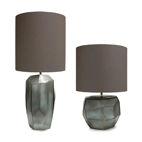 guaxs tischlampe Cubistic tall und round indigo-smokegrey
