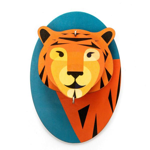 3D-Kinderzimmer-Wanddeko Tiger