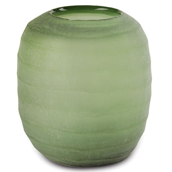 Vase Belly moss green L