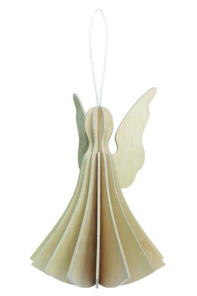Lovi  Engel als Aufhänger 9,5 cm Birkenholz weiss