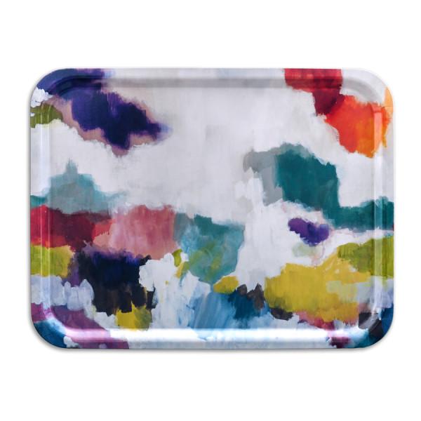 bluebellgray Tablett Nevis 43 x 33 cm, Birkenholz, bunte Farbpalette