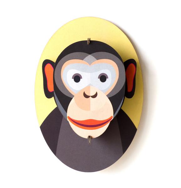 3D-Kinderzimmer-Wanddeko Affe
