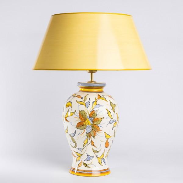 Tischlampe Raffaello aus Italien mit handgemaltem Keramiklampenfuß