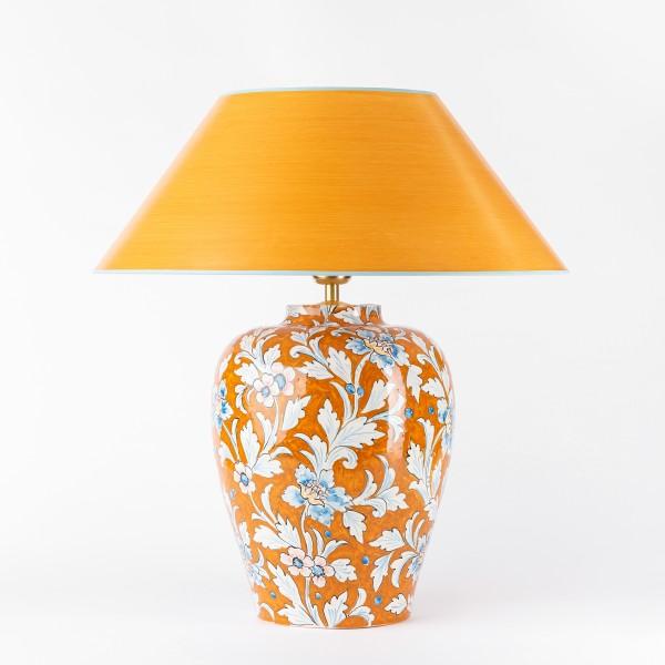 Tischleuchte, Vasenleuchte handgemalt warme orangetöne