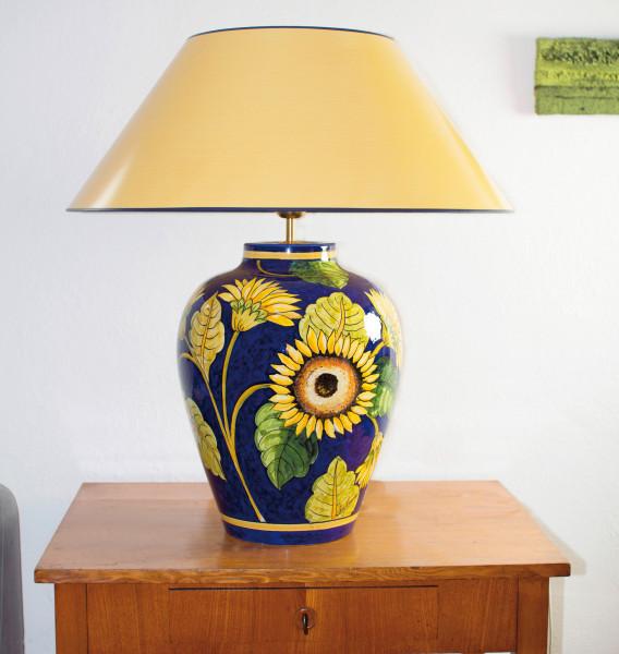Grosse Hockerlampe Girasole 69 cm