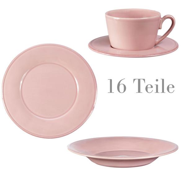 Côte Table Geschirr Constance 16-teilig Zartrosa