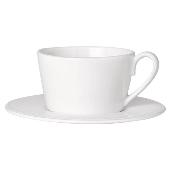 Côte Table Grosse Tasse mit Untertasse Constance 375 ml Altweiss
