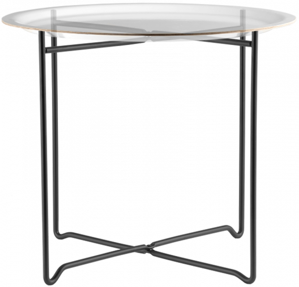 Åry Trays Tablettfuß schwarz für 49 cm Tabletts, klappbar