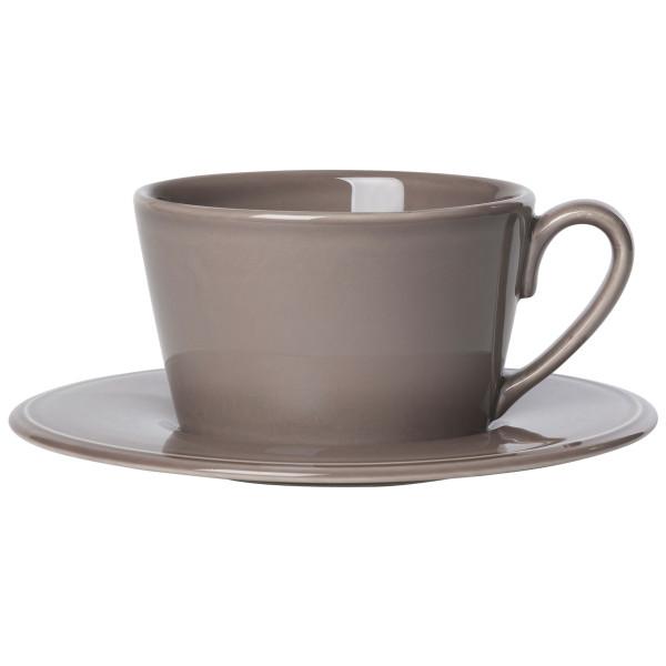 Côte Table Grosse Tasse mit Untertasse Constance 375 ml pfeffer