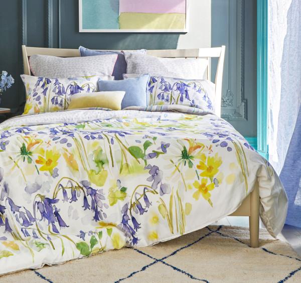 bluebellgray-bettwaesche-Bluebell-Woods-glockenblumen blau gelb