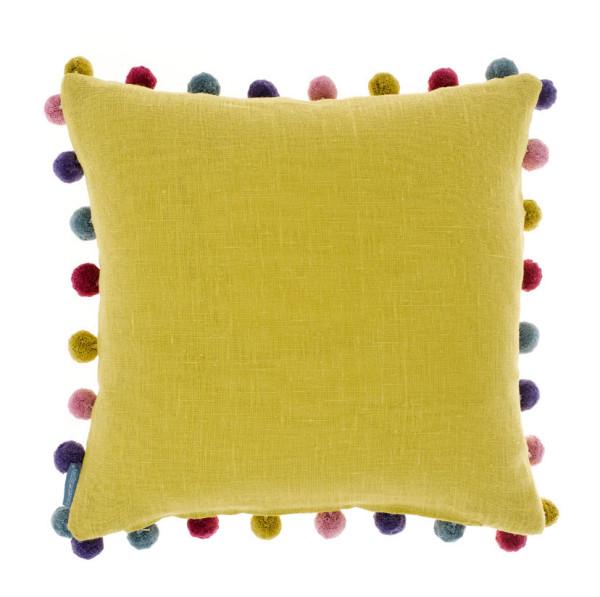 Kissen Saffron Pompom 45 x 45 cm