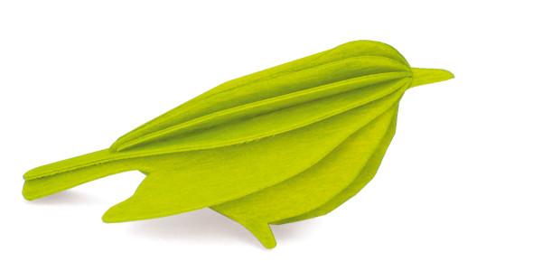 Lovi  3D Vogel als Aufsteller8 cm Birkenholz hellgrün