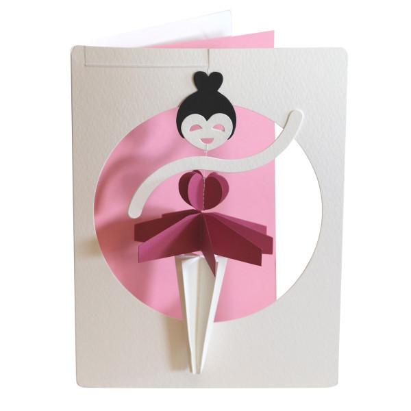 Kleine Tänzerin als Mobile in Postkarte