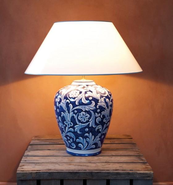 Tischlampe Deruta Blu 60 cm