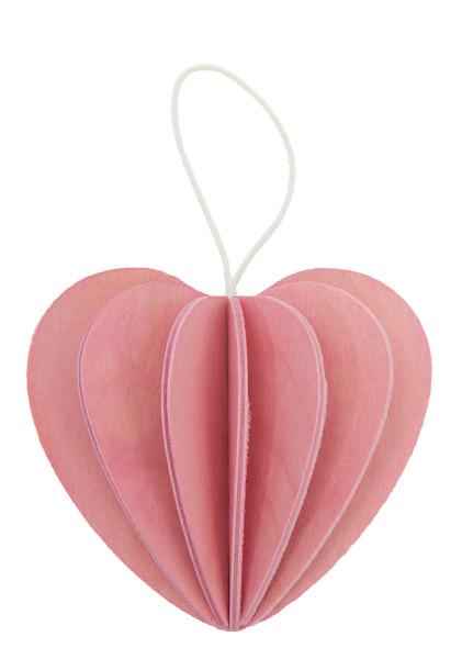 Lovi  3D Herz als Aufhänger 4,5 cm cm Birkenholz zartrosa