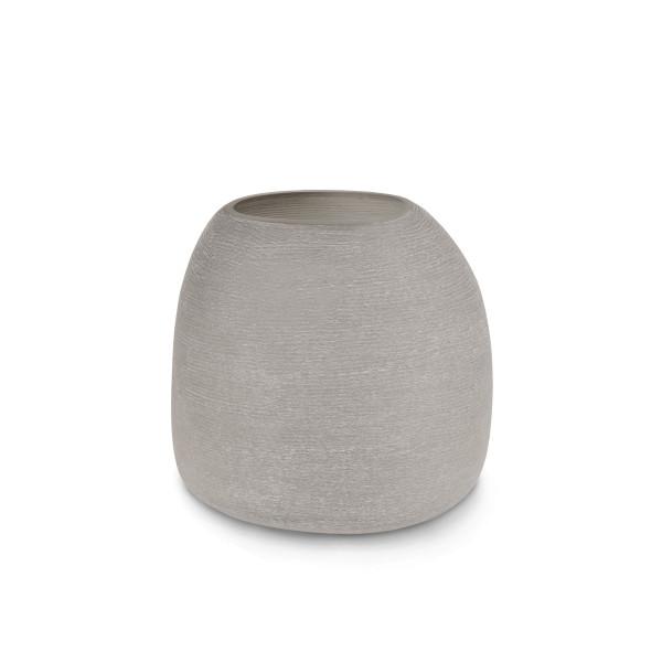 Mundgeblasenen und handgeschliffene Guaxs vase Papua M grey