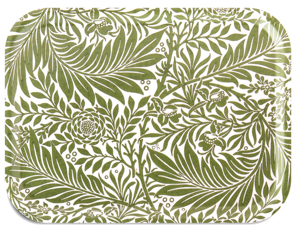 Åry Trays Tablett Larkspur von William Morris 27 x 20 cm, rund, Birkenholz, ambiente