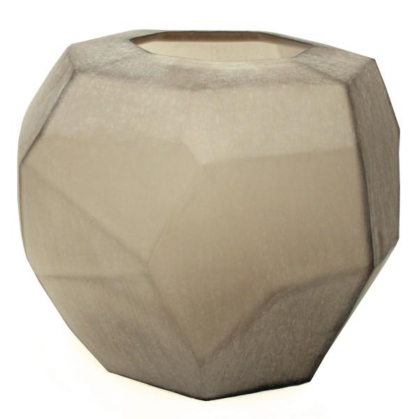 Vase Cubistic smokegrey