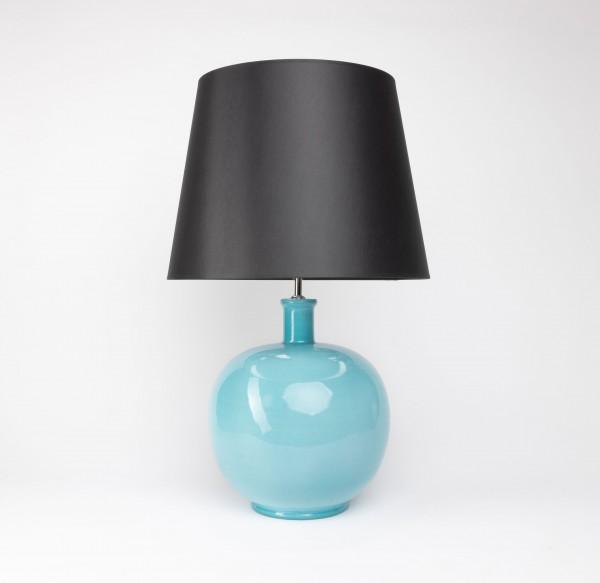 Handgefertigte Keramik-Tischlampe Basic airbrush türkis, Unikat