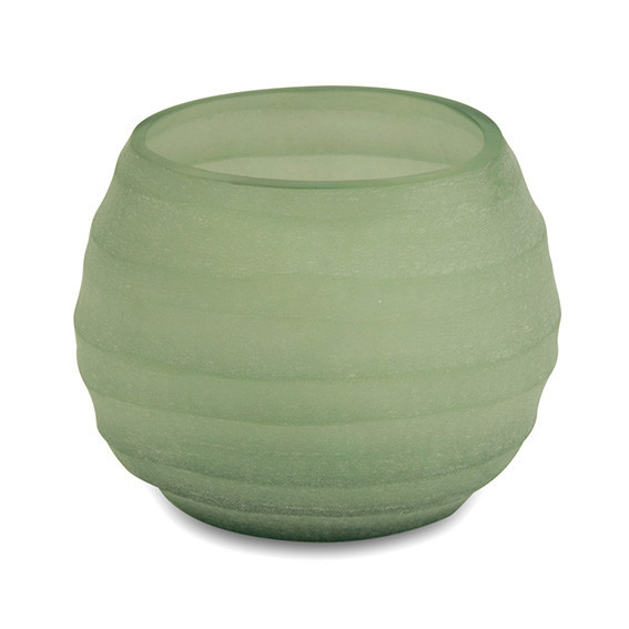 Teelicht, Vase Belly moss green 8 cm