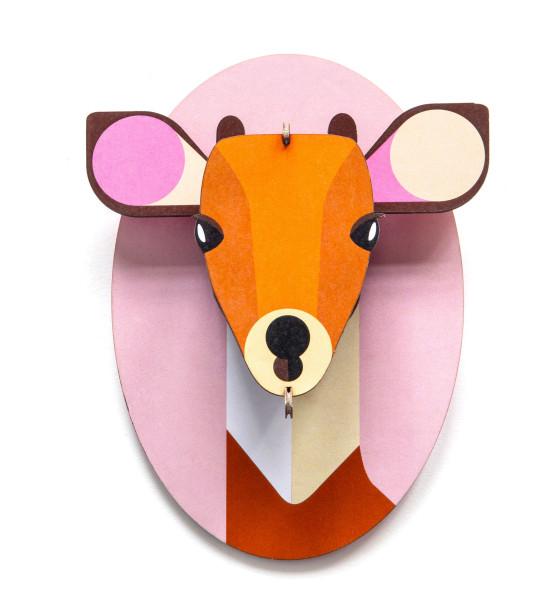 3D-Kinderzimmer-Wanddeko Kitz