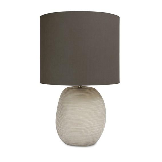 guaxs tischlampe tablelamp Patara round smokegrey