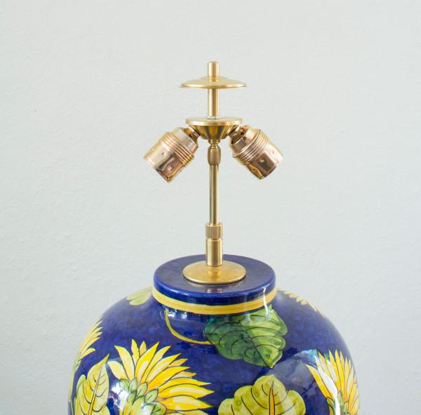 Zusatzoption: Verstellbare 2-flammige Messingaptierung für Vasenlampen