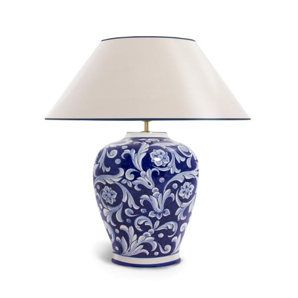 Tischleuchte Deruta blu