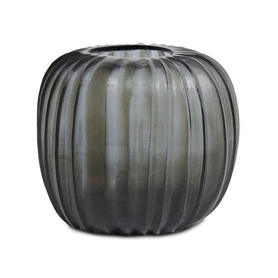 Guaxs-Vase-Manakara-Round-indigo-smokegrey