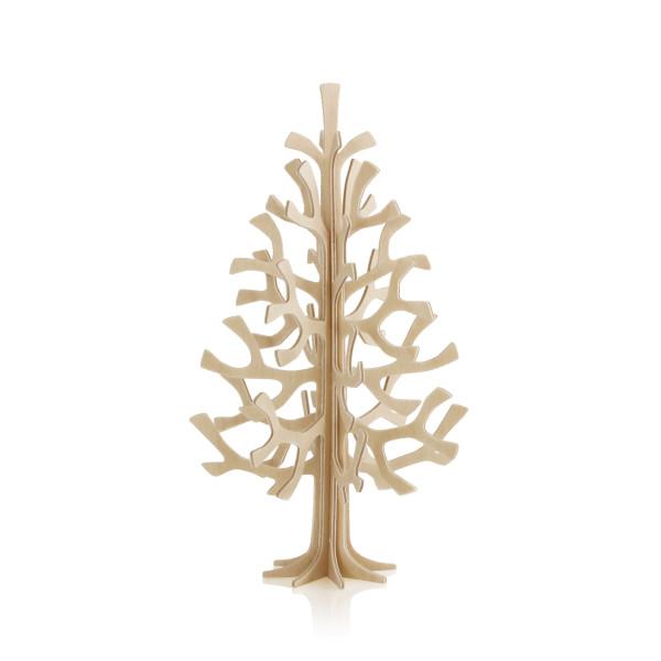 Lovi  3D Tannenbaum Weihnachtsbaum als Aufsteller 14 cm Birkenholz natur