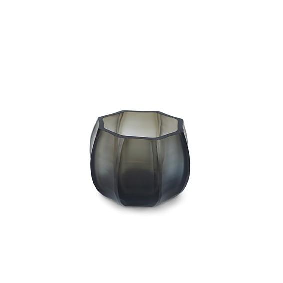 Teelicht, Vase Koonam indigo-smokegrey