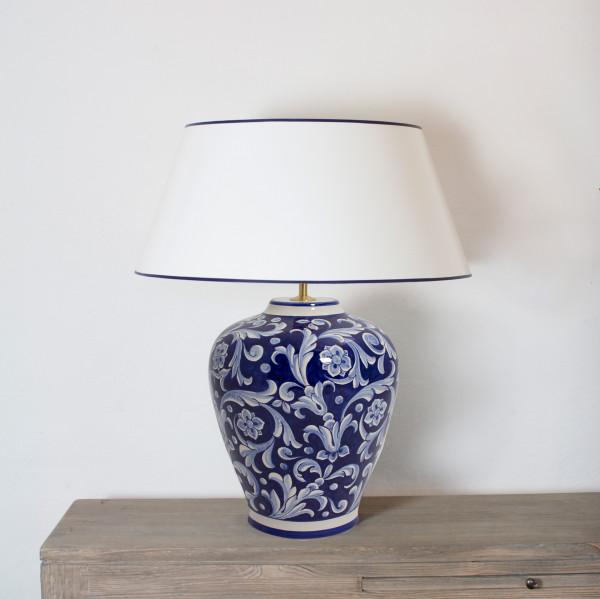 Tischlampe Deruta Blu 54 cm