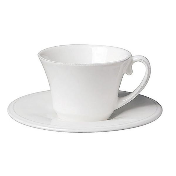 Côte Table Kaffeetasse mit Untertasse Constance 22 cl Altweiss