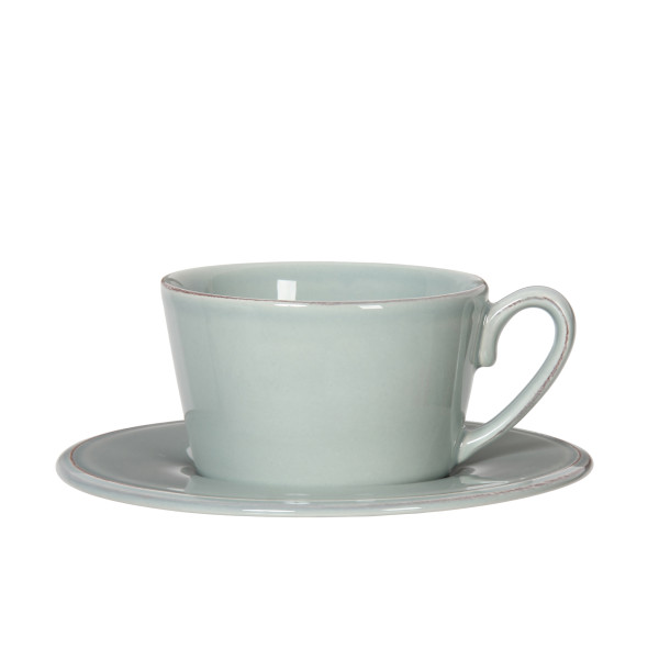 Côte Table Grosse Tasse mit Untertasse Constance 375 ml Seegrün