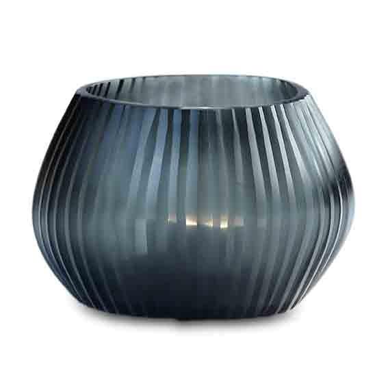 Teelicht, Vase Nagaa dark indigo