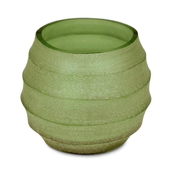 Teelicht, Vase Belly olive green 8 cm