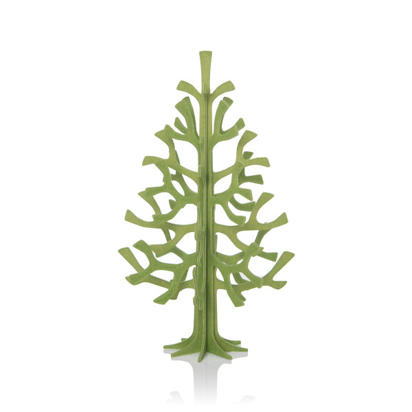Lovi  3D Tannenbaum Weihnachtsbaum als Aufsteller 14 cm Birkenholz hellgrün als Postkarte