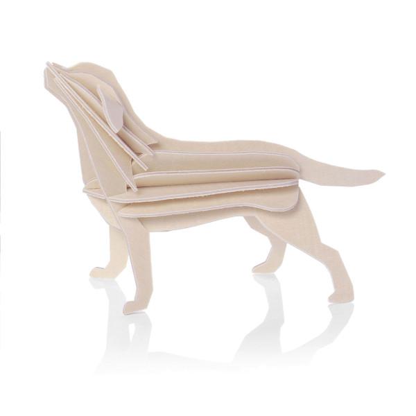 Labrador 3D Holz Postkarte Hund Lovi