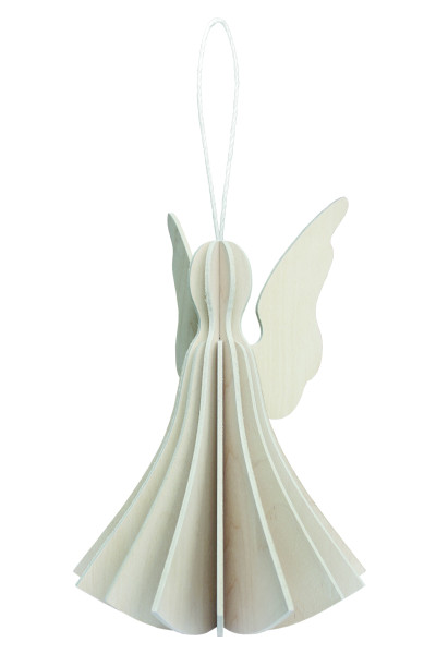 Lovi  Engel als Aufhänger 6,5 cmBirkenholz weiss