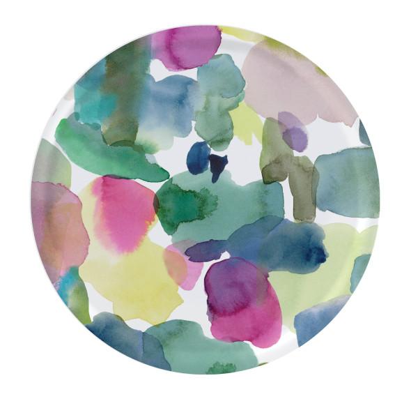 bluebellgray Tablett Rothesay 38 cm, rund, Birkenholz, bunte Punkte