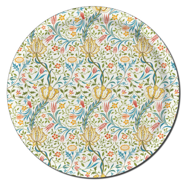 Åry Trays Tablett Flora William Morris 38cm, rund, Birkenholz